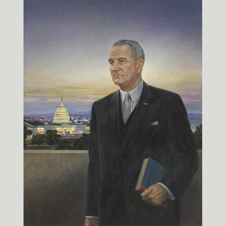 Lyndon B. Johnson, 1967 by Peter Hurd (1904-1984, United States) |  | WahooArt.com