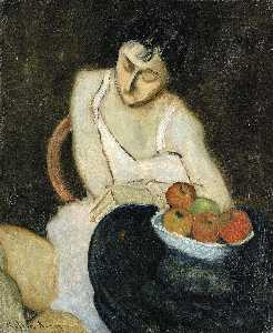 Milton Avery - Sally Avery with Still Life