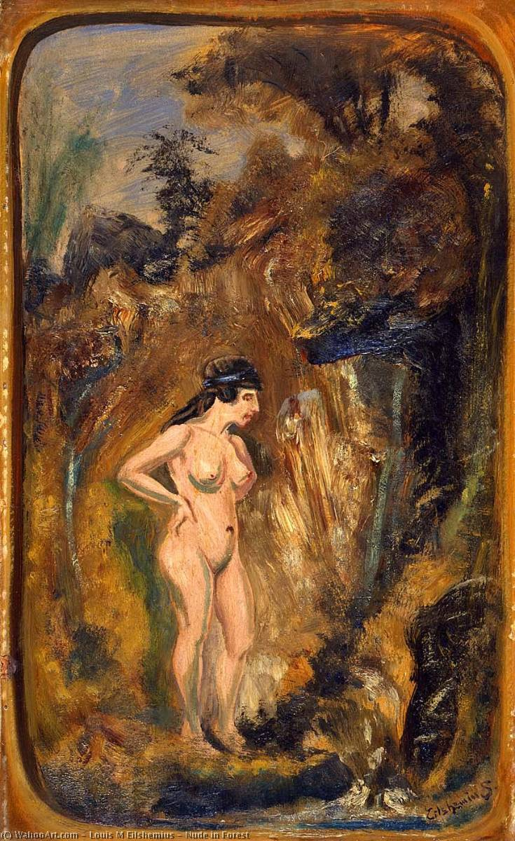 Nude in Forest, Oil On Canvas by Louis Michel Eilshemius (1864-1941, United States)