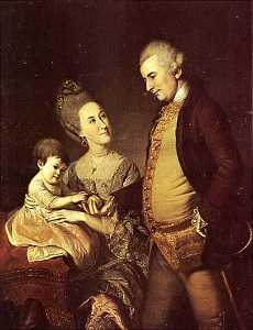 Charles Willson Peale - The John Cadwalader Family, (painting)