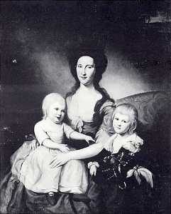Charles Willson Peale - Mrs. Richard Tilghman (Mary Gibson) (1766 90) with Her Two Sons, William Gibson (1785 1844) John Lloyd (1785 1832), (painting)