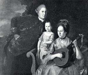 Charles Willson Peale - The Edward Lloyd Family, (painting)