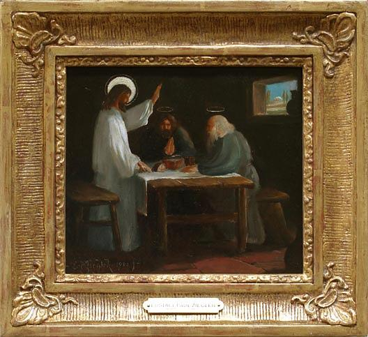 Supper at Emmaus, (painting), 1900 by Eustace Paul Ziegler (1881-1969) |  | WahooArt.com