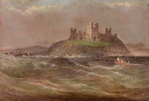 James Putty Garbutt - Coastal Scene with Castle