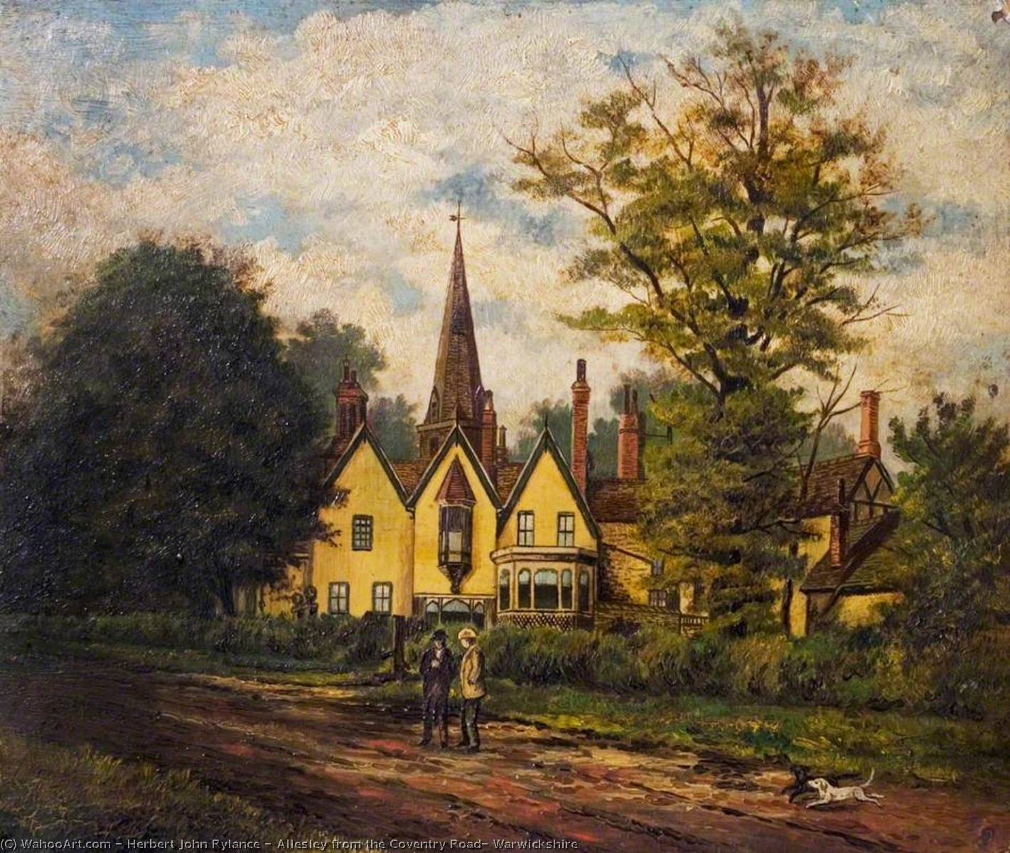 Allesley from the Coventry Road, Warwickshire, 1890 by Herbert John Rylance | Museum Quality Reproductions | WahooArt.com