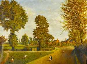 Herbert John Rylance - View on the Site of the Present Earlsdon Library, Coventry