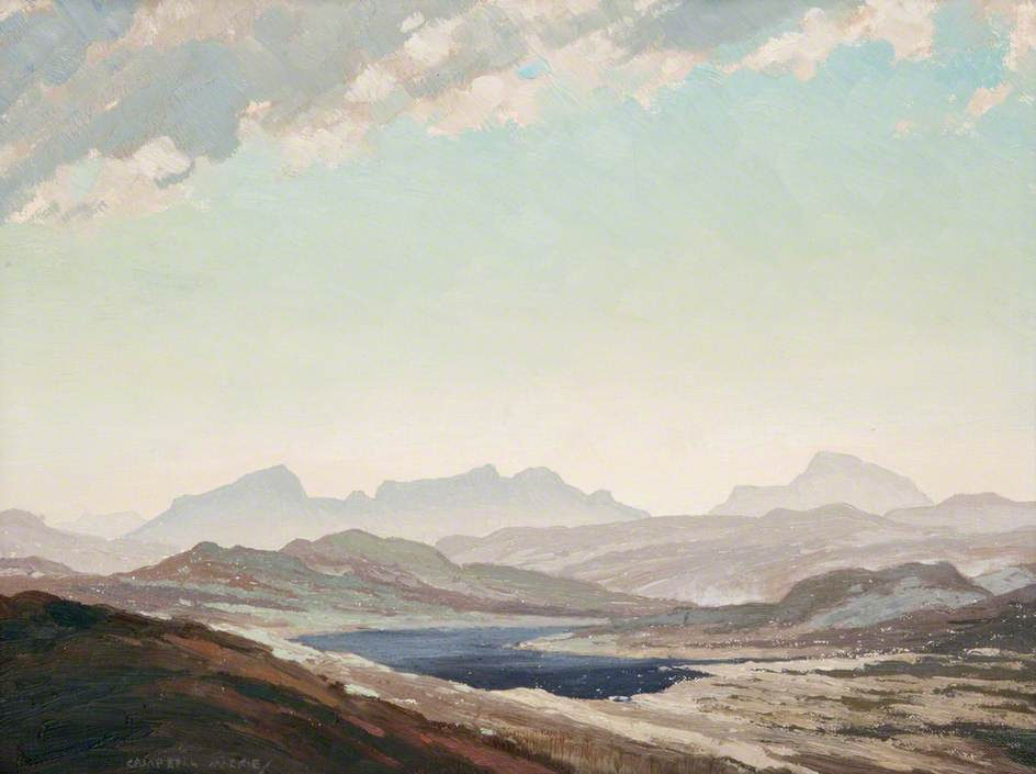 Mountains of Arran by Thomas Callender Campbell Mackie | Art Reproduction | WahooArt.com