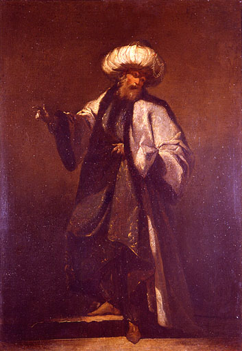 EMIR BACHI, Oil by Jean Barbault (1718-1762, France)