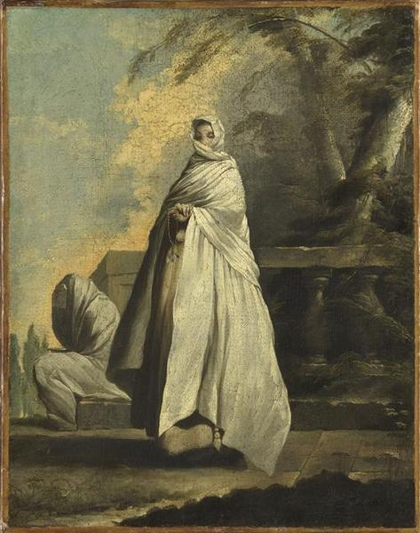 Femmes drapées de blanc, Oil by Jean Barbault (1718-1762, France)
