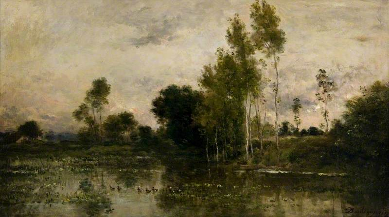 Lake with Ducks, 1873 by Charles François Daubigny (1817-1878, France) | Art Reproduction | WahooArt.com