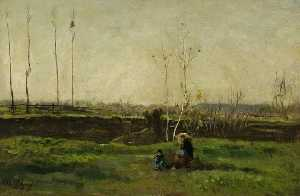 Charles François Daubigny - The Painter's Family in the Country