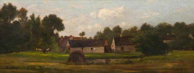 Landscape, Oil On Canvas by Charles François Daubigny (1817-1878, France)