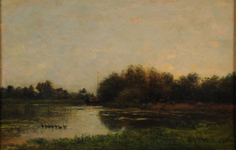Bords de l`Oise by Charles François Daubigny (1817-1878, France) | Art Reproduction | WahooArt.com