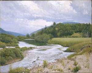 Frank Vincent Dumond - Margaree Riffles (Wandering River), (painting)