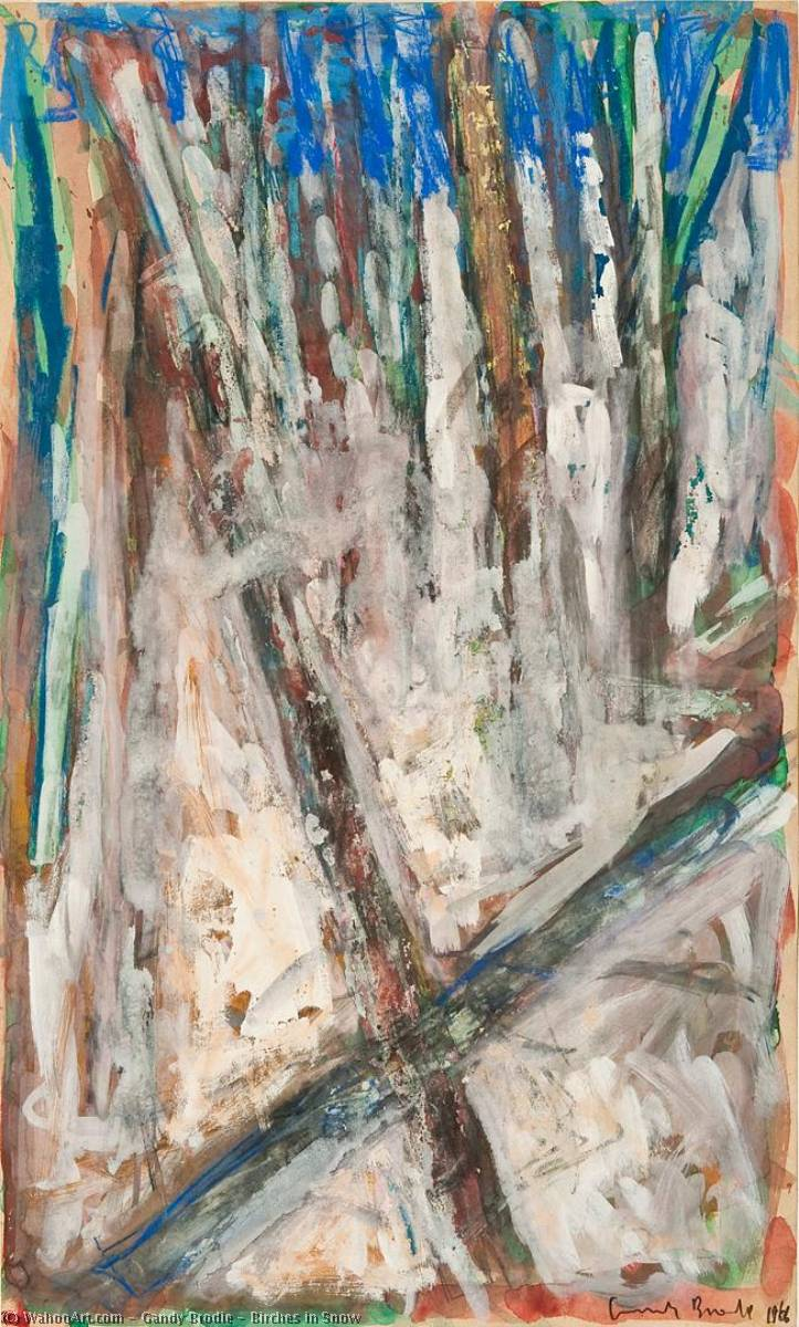 Birches in Snow, 1966 by Gandy Brodie | Museum Quality Copies Gandy Brodie | WahooArt.com