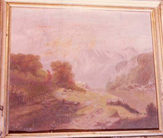 (Mountain Scene with Fjord), (painting) by Charles A Hackett | Famous Paintings Reproductions | WahooArt.com