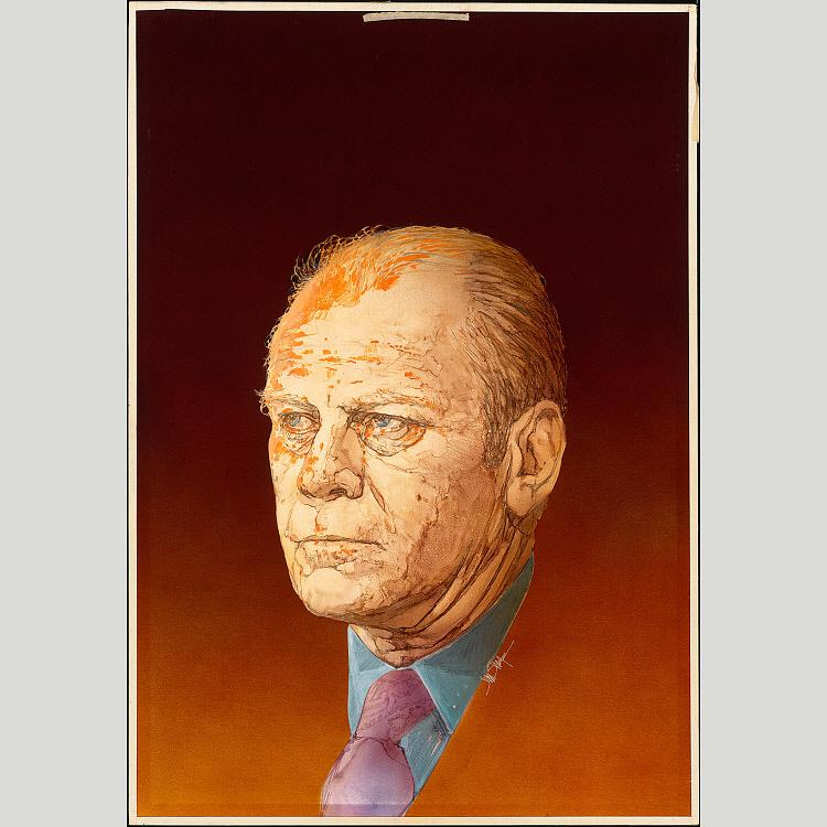 Gerald Ford, 1976 by Jim Sharpe |  | WahooArt.com