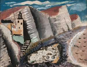 John Piper - Beach and Star Fish, Seven Sisters Cliff, Eastbourne
