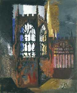 John Piper - Coventry Cathedral, 15 November, 1940