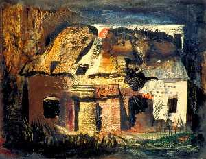 John Piper - The Cottage by Frith Wood, Hampshire