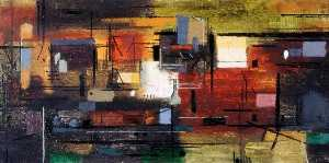 John Piper - Town from Water Meadows
