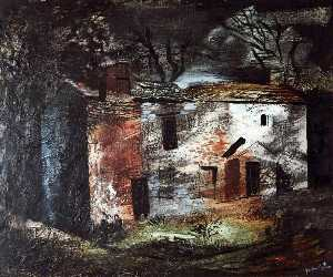 John Piper - Ruin, Dentdale, Yorkshire