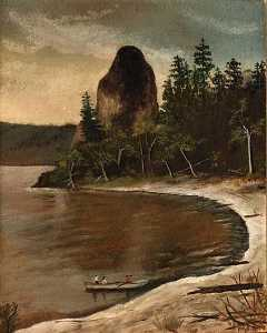 Flora A Morgensen - Rooster Rock, (painting)