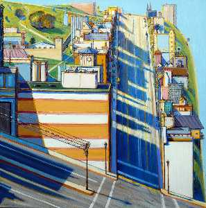 Wayne Thiebaud - San Francisco West Side Ridge