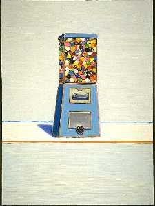 Wayne Thiebaud - Blue Vendor