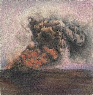 Untitled (Lavender Sky Volcano), Pen by Violet Hopkins