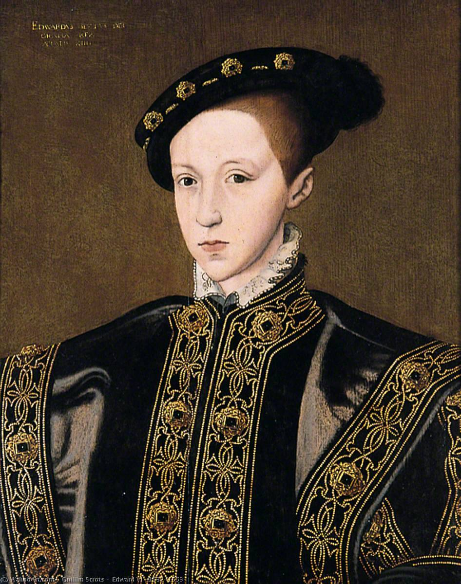 Edward VI (1537–1553) by Guillim Scrots | Museum Art Reproductions Guillim Scrots | WahooArt.com