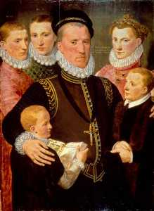 Frans The Elder Pourbus - George (c.1531–1585), 5th Lord Seton, and his Family