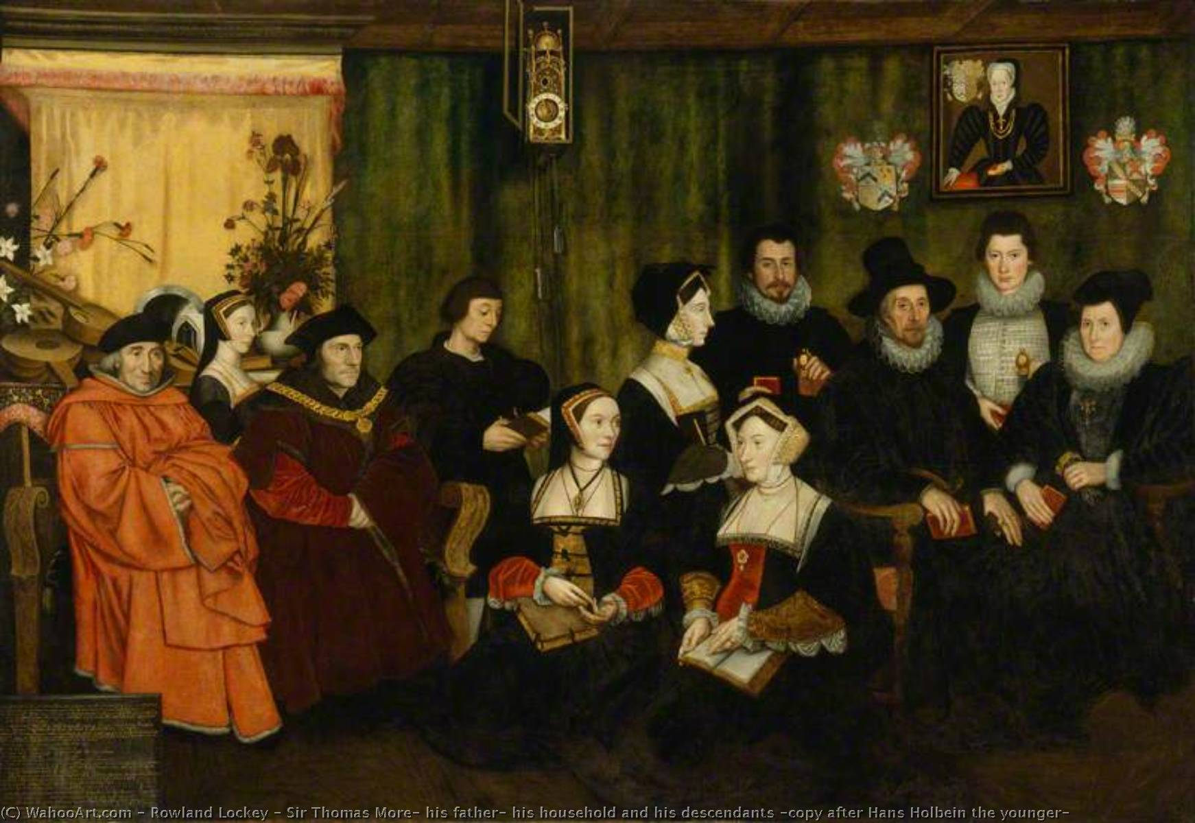 Sir Thomas More, his father, his household and his descendants (copy after Hans Holbein the younger), 1593 by Rowland Lockey | WahooArt.com