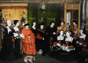Order Art Reproductions | Sir Thomas More and His Family (after Hans Holbein the younger), 1592 by Rowland Lockey | WahooArt.com
