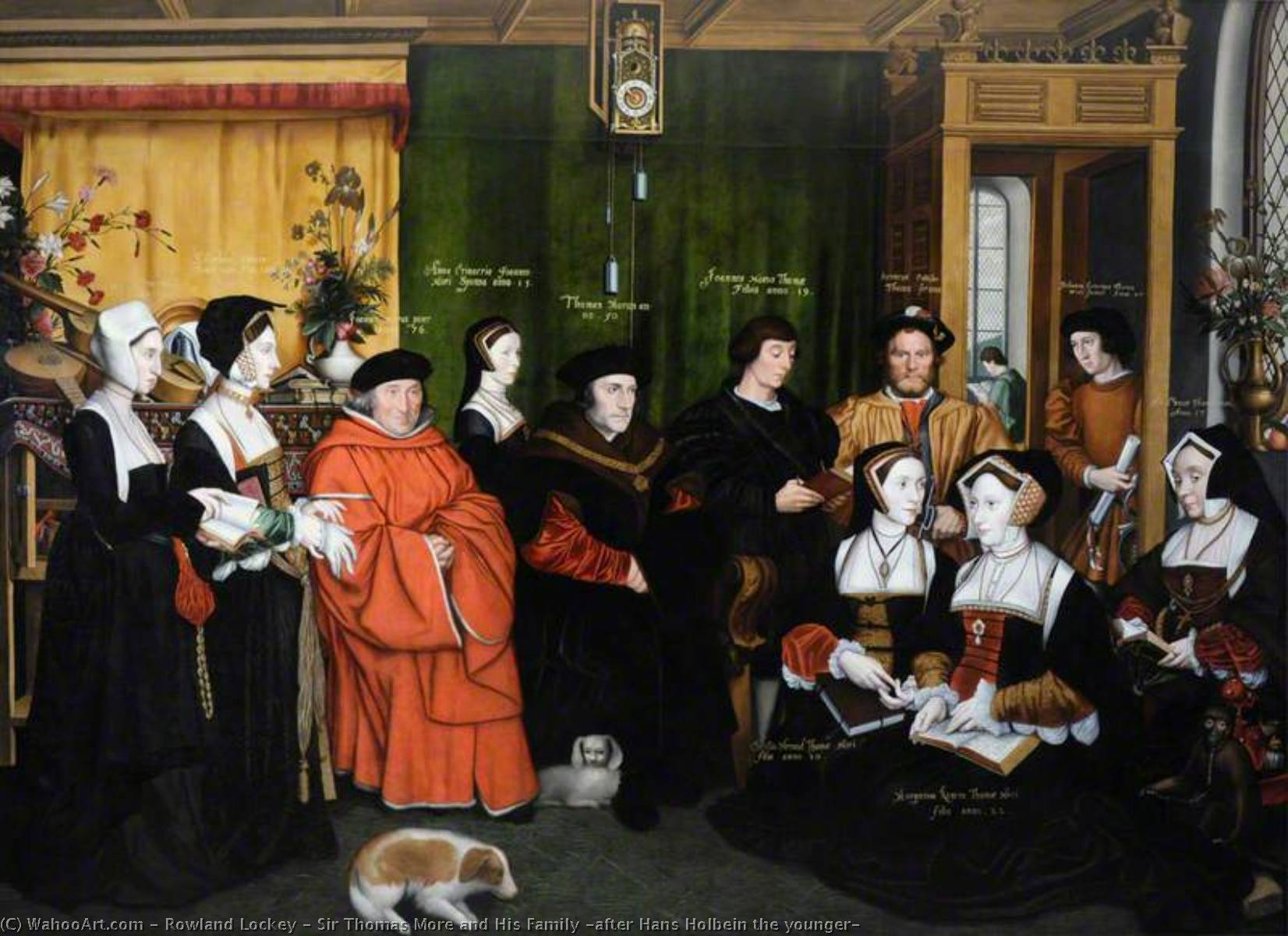 Sir Thomas More and His Family (after Hans Holbein the younger), Oil On Canvas by Rowland Lockey