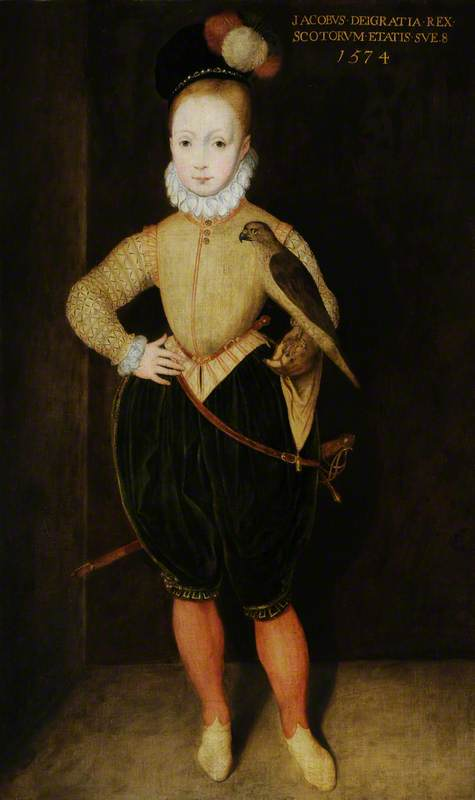 James I and VI (1566–1625), as a Boy (after Arnold Bronckhorst), Oil On Canvas by Rowland Lockey