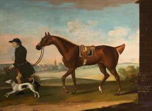 Thomas Butler - 'Squeaking Jenni' Got by Sir Richard Grosvenor's 'Old Terror' with Sir P. B. Leicester's Groom and Hound