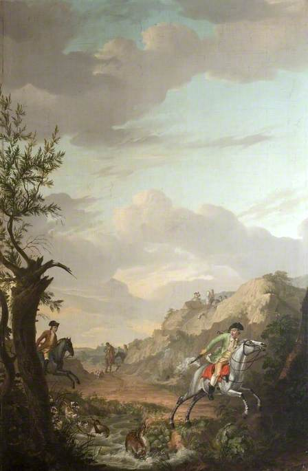 A Stag Hunt, 1779 by Gerrit Malleyn | Art Reproduction | WahooArt.com