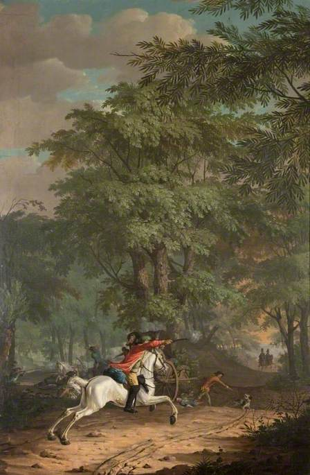 An Ambush in the Woods, 1779 by Gerrit Malleyn | Museum Quality Reproductions | WahooArt.com