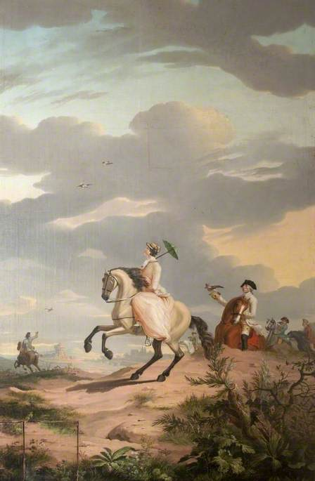 A Hawking Party, 1779 by Gerrit Malleyn | Paintings Reproductions Gerrit Malleyn | WahooArt.com