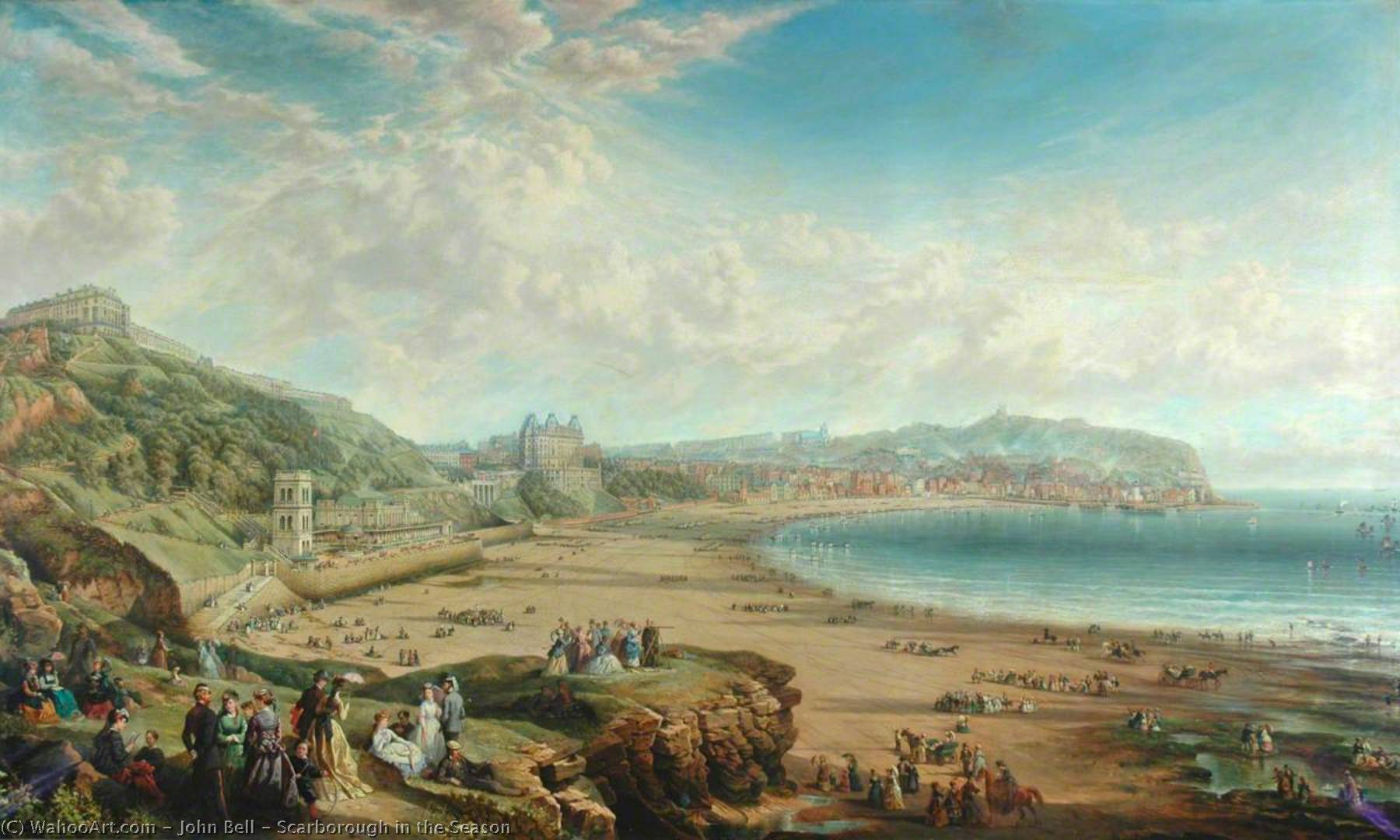 Scarborough in the Season, 1869 by John Bell | Museum Quality Copies John Bell | WahooArt.com
