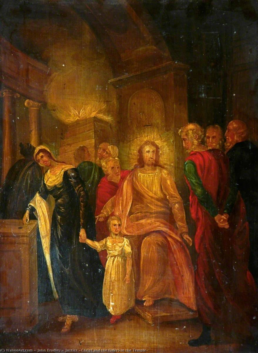 Order Museum Quality Copies | Justice (Christ and the Elders in the Temple), 1837 by John Bradley | WahooArt.com