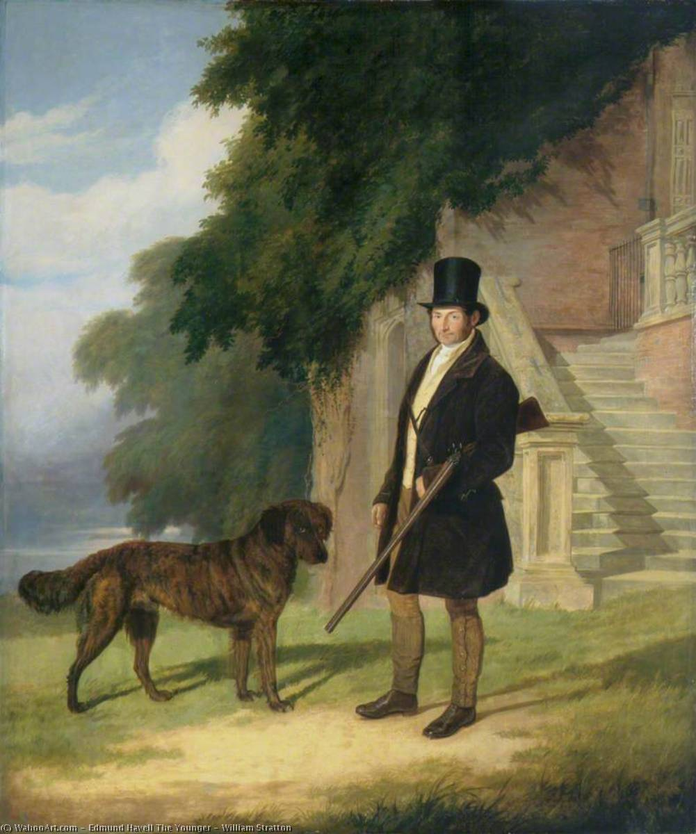 William Stratton, Oil On Canvas by Edmund Havell The Younger