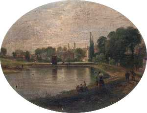 Patrick Campbell Auld - Lower Heath Pond, Hampstead