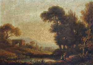 William Crotch - Landscape with Ruins