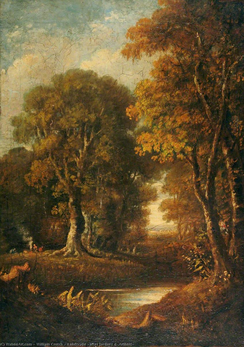 Landscape (after Jacques d`Arthois), 1835 by William Crotch | Reproductions William Crotch | WahooArt.com