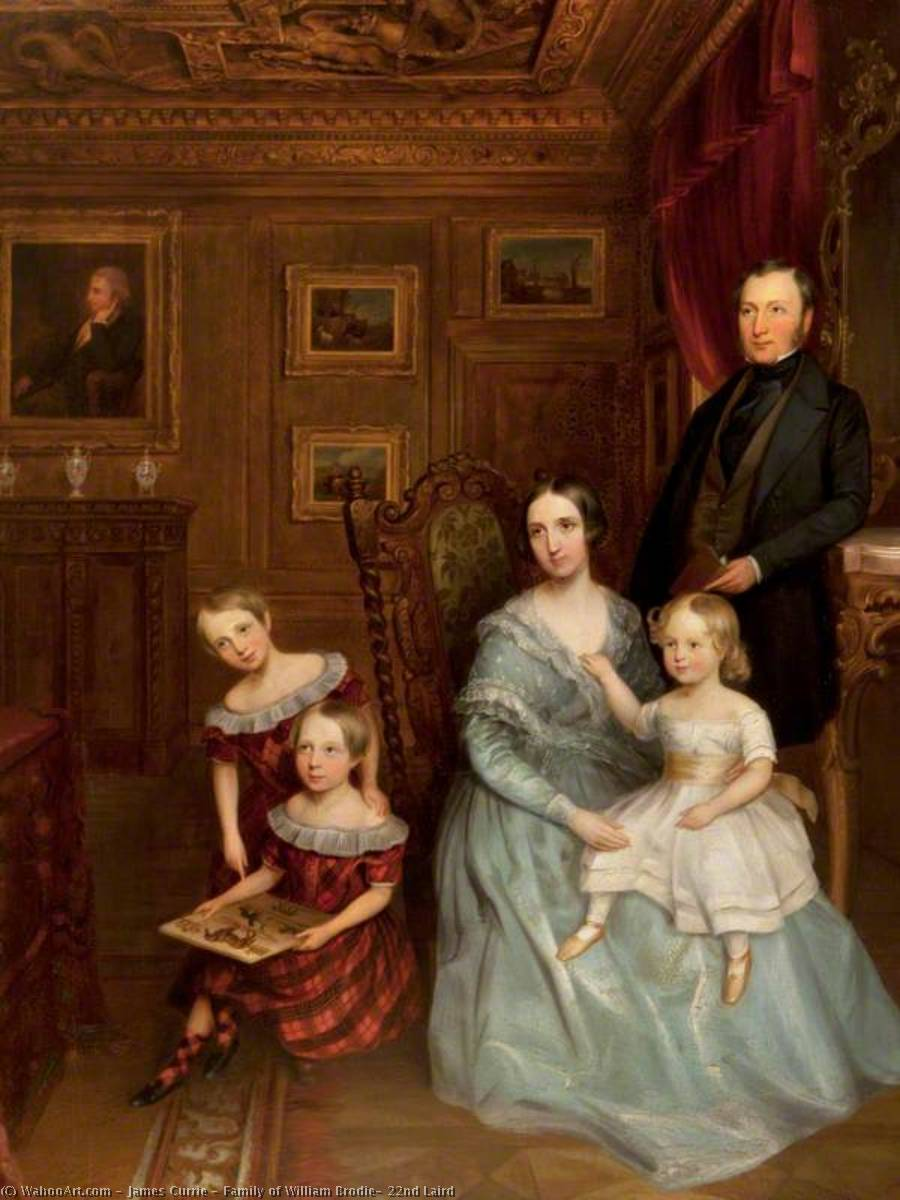 Family of William Brodie, 22nd Laird by James Currie | Art Reproduction | WahooArt.com