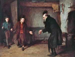Henry Benjamin Roberts - Oliver Twist's First Introduction to Fagin (from the novel by Charles Dickens)