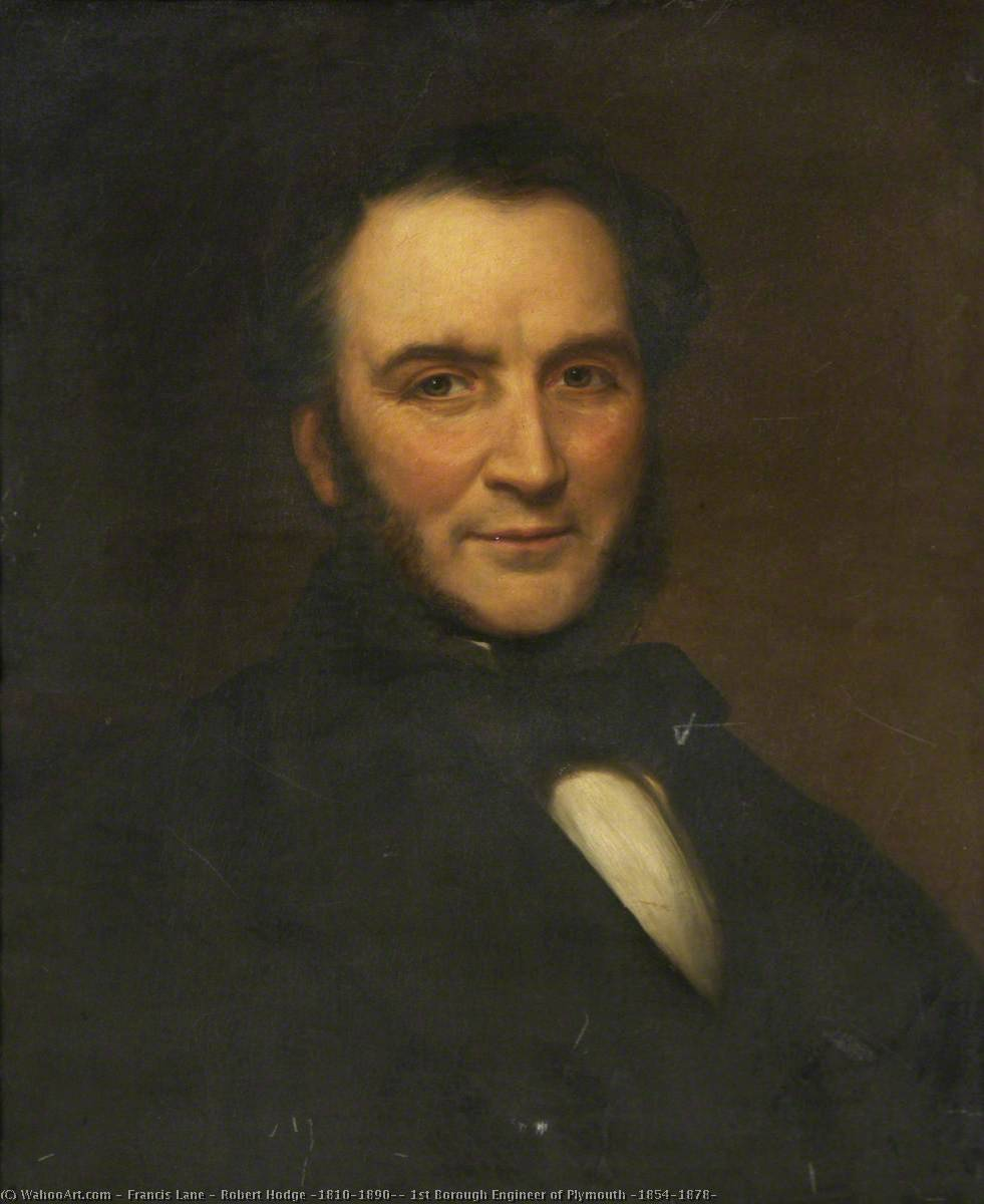 Robert Hodge (1810–1890), 1st Borough Engineer of Plymouth (1854–1878), 1864 by Francis Lane | Oil Painting | WahooArt.com