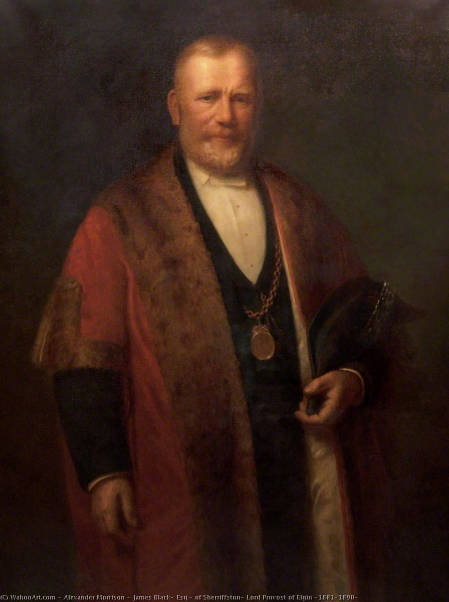 Buy Museum Art Reproductions | James Black, Esq., of Sherriffston, Lord Provost of Elgin (1881–1890), 1890 by Alexander Morrison | WahooArt.com